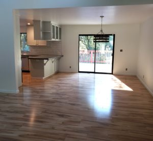 Harwood floors and new kitchen